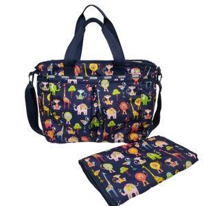 LE SPORTSAC Ryan Baby Tote Diaper Bag Zoo Animals